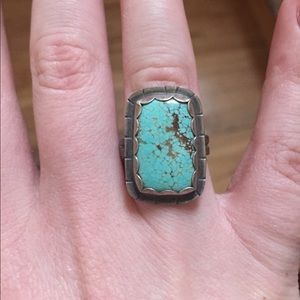 Vintage Jewelry - Square Turquoise Ring